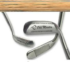 COMPANY GOLF GIFT / OLD MASTER SCOTTISH CLASSIC HICKORY WOOD SHAFT PUTTER