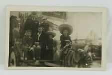 Vintage RPPC Family on Wagon Military Coca Cola Sign Kids Real Picture Postcard