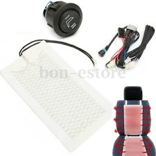 2PC Universal Carbon Fiber Car Seat Heated Heater Pad Round Switch Kit Truck New