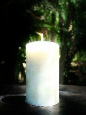 40hr UNSCENTED Natural COCONUT WAX & COTTON WICKS CANDLE Non-Toxic Chemical Free