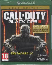Call of Duty Black Ops 3 III Gold Xbox One Zombie & Awakening DLC New Sealed COD