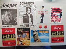 More details for sleeper - fan club bundle - original uk promo flyers postcards - it girl badges