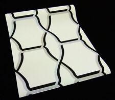 8800-62-) 8 Rollen Design Vliestapeten modernes Dekor schwarz weiß grau silber