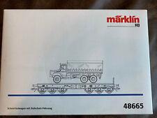 Märklin H0 Schwerlastwagen mit Zivilschutz-Fahrzeug 48665