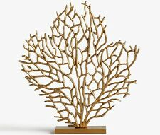 John Lewis Medium 53cm Abstract Metal Coral Sculpture - Gold B+