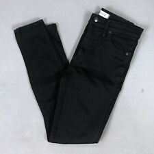 """Madewell 10"""" High Rise Skinny Black Jeans Pants Carbondale Wash Size 27 X 28"""