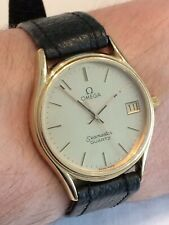 Vintage Swiss OMEGA SEAMASTER Ouartz 1337 Mens Watch ft. Date Aperture