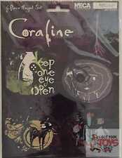 """CORALINE 6 PIECE MAGNETS Other Mother The Cat Neca Sealed RARE 2-4"""" Inch WIDE"""