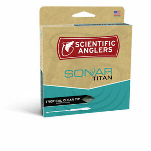 SCIENTIFIC ANGLERS SONAR TITAN TROPICAL CLEAR TIP WF-8-F/I #8 WEIGHT FLY LINE