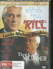 LESLIE NIELSEN DOUBLE FEATURE - PROJECT KILL & THEY CALL IT MURDER -  DVD -