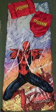 Marvel Spider-man Slumber Bag Set, Sling Carry Bag Sleepover Sleeping Bag