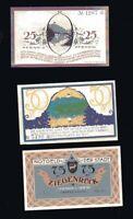 3x Notgeld ZIEGENRÜCK (Saale-Orla-Kreis) 25, 50, 75 Pfennig   1921 top