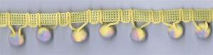"18 Yard Spool of  1""  Yellow Multicolor Ball Fringe w/Lip     44014-54"