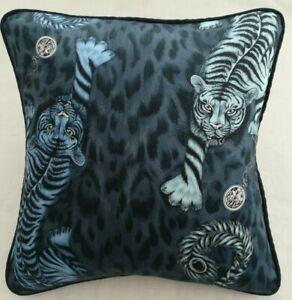 Emma J Shipley TIGRIS NAVY Cushion Cover 41cm x 41cm
