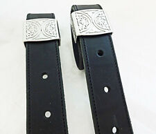 Pair Black Latigo Leather Saddle Back Cinch Flank Billets Jeremiah Watt Loops
