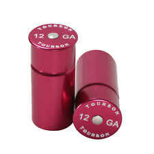 Tourbon Shotgun Snap Caps Set of 2 Aluminum Dummy Rounds Training 12 GA Gauge RD