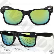 MATTE Black Square  Mirror lens Mens Womens Sunglasses