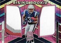 2019 Panini Spectra Rising Rookie Materials Neon Pink #9 Damien Harris Jersey/15