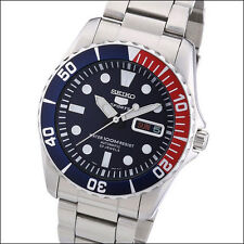 Seiko 42mm Sports 5 Automatic Watch with Stainless Steel Bracelet #SNZF15K1