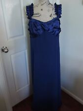 CITY CHIC Blue Satin Beaded Lined Evening Wedding Dress Plus Size XL 20 22