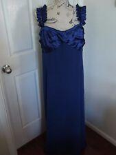 CITY CHIC Blue Satin Beaded Lined Evening Wedding Dress Plus Size XL 20 22