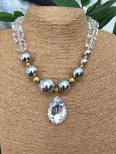 Tarina Tarantino Lucite & Crystal  Necklace