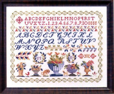 """Antique Vases Sampler"" Cross Stitch Pattern by JBW DESIGNS"