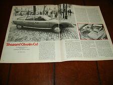 1976 CITROEN Cx2200  ***ORIGINAL ARTICLE / SPECIFICATIONS***