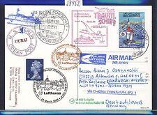 58952) LH FF Francoforte-Edimburgo GB 28.3.99, cartina SP BP Emirati Arabi Uniti VELA VELA 2