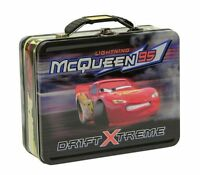 Disney Cars Lightning McQueen Tin Storage Lunch Box Gift Case Bag CARRY ALL NEW