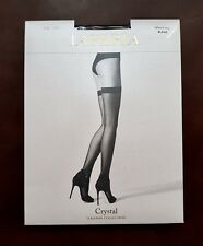 New La Perla Crystal Hold-Up Stockings with Swarovski Crystals Size L