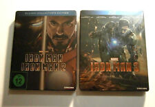 Lot Blu-ray Steelbook : IRON MAN 1 & 2 + IRON MAN 3
