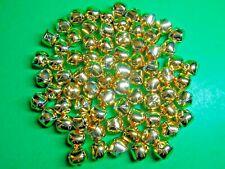 "(75) 3/4"" Gold Metal Jingle Bells Christmas Craft Embellishments (Cm)"