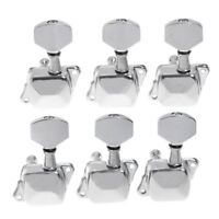 Semiclosed Guitar Tuning Pegs Tuners Machine Heads Chrome 6 Left-handed