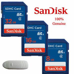 SanDisk 4GB 8GB 16GB 32GB 64GB SD SDHC SDXC Memory Card Standard C4 For Cameras