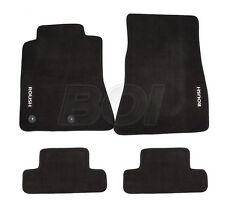 2015-2018 Ford Mustang Roush Embroidered Black Front & Rear Floor Mats - 4 Pc