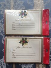 NIB Vintage Set 2 Packages Holiday Christmas Invitations Envelopes 16 Total