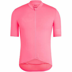 Rapha Pro Team Men's High Visibility Pink Midweight Jersey Large BNWT