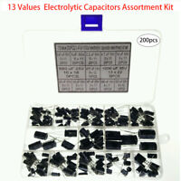 200pc Elektrolyt Kondensatoren 0.47µF-1000µF Sortiment Kit Set Arduino Raspberry
