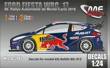 NEW DECALS 1/24 FORD FIESTA WRC - OGIER / EVANS - MONTE CARLO 2018 - DC2447