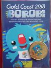 2018 Borobi Gold Coast XXI Games - $1 'Australia' COUNTERSTAMP Coloured UNC Coin