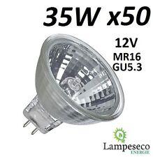 50 Ampoules Dichroique Halogène 30% Economique MR16 GU5.3 12V 35W (25W) 3000h