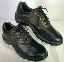 Footjoy Greenjoys Golf Shoes Black/Dark Brown Men's Sz 8 Style 45564 Soft Spike