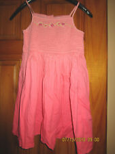 CARTER salmon/light orange sundress with embroidered flowers Sz 6 ( girls)