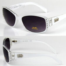 New DG Eyewear Designer Womens Rhinestones Sunglasses Shades Fashion White Oval