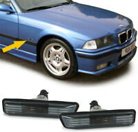 For BMW e36 SMOKED dark Indicators turn signals blinker markers Side Repeaters 3
