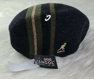 Kangol Hat Mens 504 Flat Cap K3251HT Identity Stripe M Shipped promptly 💨