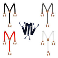 25mm Mens Adult Braces Adjustable Elastic Trouser Button Hole Suspenders Y Shape