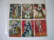 LADY DEATH  CHROMIUM 1 SET COMPLET DE 6 BONUS  CLEARCHROME CARDS   1994