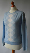 Ladies Lyle & Scott St Andrews Old Course Light Blue Pure New Wool Jumper Size L